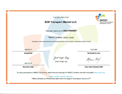 Central and South Texas Minority Business Council Certificate